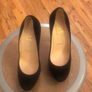 Christian Louboutin Suede Heels Black size 38